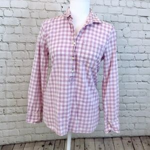 J. Crew Factory Homespun Popover Boy Fit Shirt